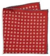 Isaia Medallion Patterned Pocket Square