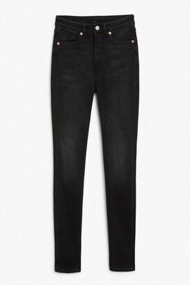 Monki Oki washed black jeans