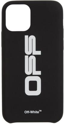 Off-White Off White Black and White Wavy Logo iPhone 11 Pro Case