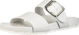 J/Slides Women's Essie Sandal White 9 M US