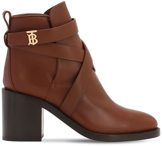 Burberry 70mm Pryle Leather Ankle Boots