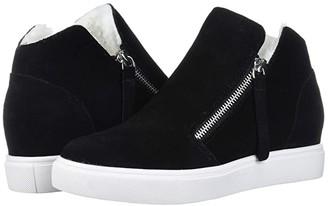 Steve Madden Caliber-F Wedge Sneaker (Grey Suede) Women's Shoes