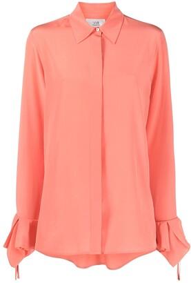 Victoria Victoria Beckham Ruffled Cuff Silk Shirt