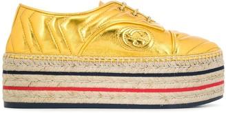 Gucci Leather Platform Espadrille