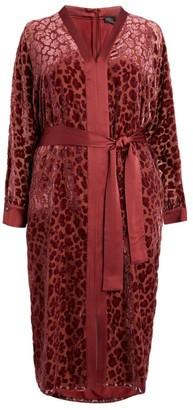 Marina Rinaldi Leopard Print Midi Dress