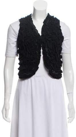 Stella McCartney Ruffle-Accented Cropped Vest