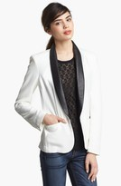 Rag and Bone rag & bone Leather Trim Tuxedo Jacket 10