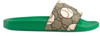 Gucci Children's GG baseball slide sandal