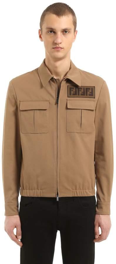 Fendi Signature Ff Light Gabardine Jacket