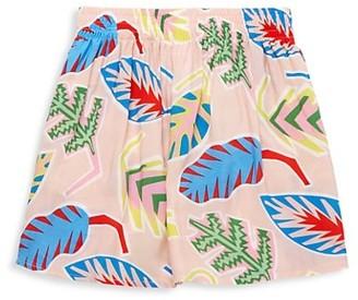 Stella McCartney Little Girl's Girl's Palm Leaf-Print Skirt