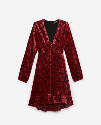 The Kooples Short velvet dress in floral print