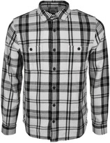 Edwin Labour Check Flannel Shirt White