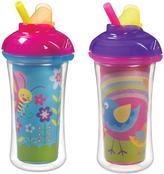 Munchkin Click Lock 9oz Insulated Straw Cup - 2pk (Assortment)