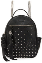 Alexander McQueen Studded Leather Chain Backpack, Black