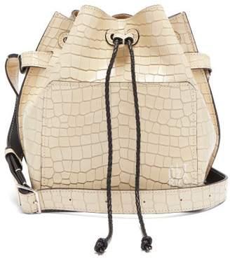 Altuzarra Espadrille Crocodille Effect Leather Bucket Bag - Womens - Beige Multi