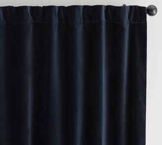 Pottery Barn Velvet Twill Rod Pocket Curtain - Flagstone