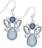 Style&Co. Style & Co. Silver-Tone Ice Blue Stone Drop Earrings