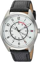 Tommy Hilfiger Men's 'Sport' Quartz Resin and Leather Casual Watch, Color:Black (Model: 1791373)