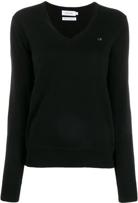 Calvin Klein V-Neck Knit Sweater
