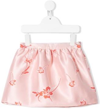 Hucklebones London Floral Embroidered Mini Skirt