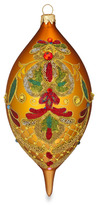 Waterford Holiday Heirlooms Elongated Beaded Lace Amber Spire Ornament