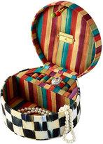 Mackenzie Childs MacKenzie-Childs Courtly Check Round Jewelry Box