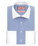 Thomas Pink Bishop Stripe Slim Fit Double Cuff Shirt