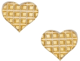 Gogo Philip Etched Heart Studs - Gold