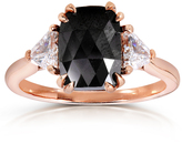 Kobelli Jewelry Kobelli 2 2/9 CT TW Black and White Diamond 10K Rose Gold 3-Stone Engagement Ring