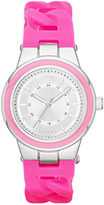 JCPenney FASHION WATCHES Womens Braided Silicone Strap Watch