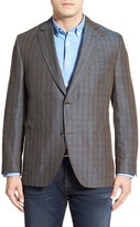 Kroon Bono 2 Plaid Linen Sport Coat (Big & Tall)