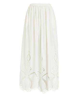 Rhode Resort Owen Cotton Midi Skirt