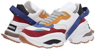 DSQUARED2 The Giant Wave Sneaker (White/Mattone/Blue) Men's Shoes
