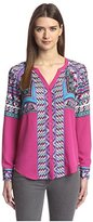 Hale Bob Women's Printed Long Sleeve Tunic