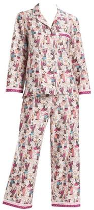 Natori Tea Party 2-Piece Pajama Set