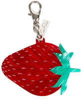 Edie Parker Acrylic Strawberry Key Charm, Red