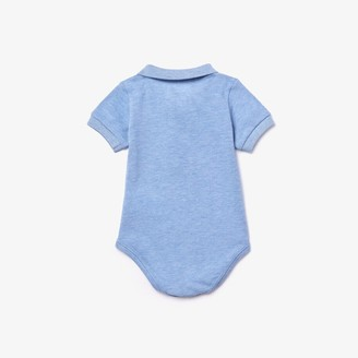 Lacoste Boys' Baby Organic Cotton Pique Bodysuit In Recycled Cardboard Box Set