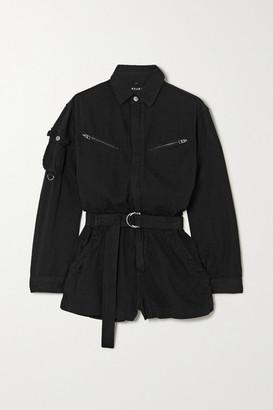 Ksubi Belted Cotton Playsuit - Black