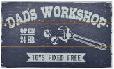 "New View Dad's Workshop"" Barnwood Box Wall Art"