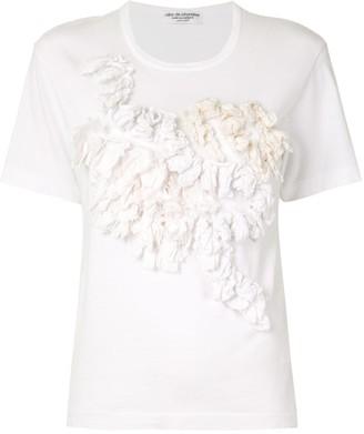 Comme Des Garçons Pre Owned ruffled applique T-shirt