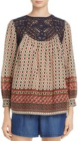 French Connection Ity Lace Detail Top