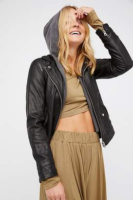 Doma Clash Leather Jacket by at Free People