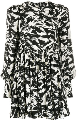 Rotate by Birger Christensen Graphic Print Mini Dress