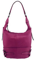 B. Makowsky As Is Glove Leather Zip Top Hobo w/Side Pockets