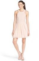 Trixxi Glitter Sparkle Skater Dress (Juniors)