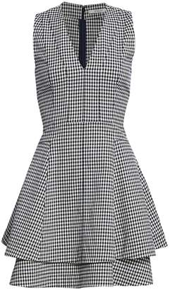 Derek Lam 10 Crosby Koren Gingham V-Neck Dress