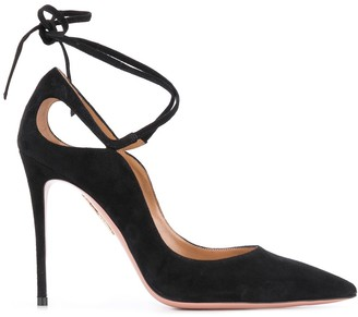 Aquazzura Ankle-Tie 105mm Stiletto Pumps