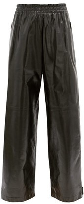Bottega Veneta Adjustable-cuff Leather Trousers - Black