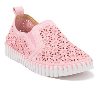 Ilse Jacobsen Hornbaek Tulip Perforated Slip-On Sneaker