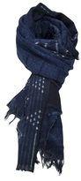 Vintage Indigo Raw shawl